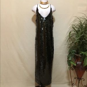 Intimately freepeople sequins maxi spaghetti dress